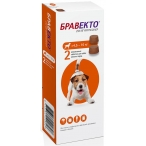 Бравекто (Intervet) жевательная таблетка от блох и клещей для собак весом 4.5-10 кг, 250 мг (2 таблетки)
