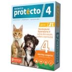 Protecto (Neoterica) капли инсектоакарицидные для кошек, собак и кроликов до 4 кг, 2 пипетки