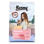 Корм Karmy Delicious для кошек, привередливых к еде, с лососем, 10 кг