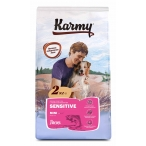 Корм Karmy Mini Sensitive для собак малых пород, с чувствительным пищеварением, с лососем, 15 кг