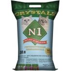 Наполнитель N1 Crystals для кошек, силикагелевый, 30 л, 12.2 кг