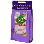 Наполнитель N1 Crystals Lavender для кошек с ароматом лаванды, силикагелевый, 5 л, 2 кг
