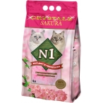 Наполнитель N1 Crystals Sakura для кошек с ароматом сакуры, силикагелевый, 5 л, 2 кг