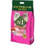 Наполнитель N1 Crystals For Girls для кошек, силикагелевый, 12.5 л, 5 кг