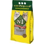Наполнитель N1 Crystals Комкующийся для кошек, 10 л, 8.3 кг