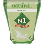 Наполнитель N1 NATUReL для кошек с добавлением сухого молока, комкующийся, 4.5 л, 1.8 кг