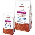 Корм Monge Dog Speciality Extra Small для взрослых собак миниатюрных пород ягненок с рисом и картофелем, 2.5 кг