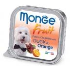 Корм Monge Dog Fruit консервы для собак утка с апельсином, 100 г