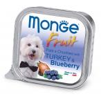 Корм Monge Dog Fruit консервы для собак индейка с черникой, 100 г