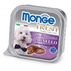 Корм Monge Dog Fresh консервы для собак ягненок, 100 г