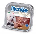 Корм Monge Dog Fresh консервы для собак говядина, 100 г