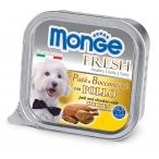 Корм Monge Dog Fresh консервы для собак курица, 100 г