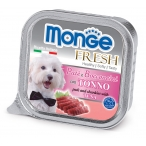 Корм Monge Dog Fresh консервы для собак тунец, 100 г