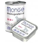 Корм Monge Dog Monoproteico Solo консервы для собак паштет из ягненка, 400 г