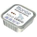 Корм Monge Dog Monoproteico Solo консервы для собак паштет из оленины, 150 г