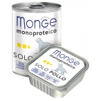 Корм Monge Dog Monoproteico Solo консервы для собак паштет из курицы, 150 г