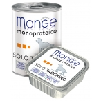 Корм Monge Dog Monoproteico Solo консервы для собак паштет из индейки, 150 г