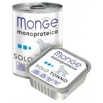 Корм Monge Dog Monoproteico Solo консервы для собак паштет из тунца, 150 г
