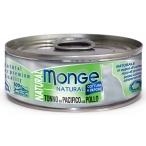Корм Monge Cat Natural консервы для кошек тихоокеанский тунец с курицей, 80 г