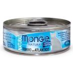 Корм Monge Natural (консерв.) для кошек, с атлантическим тунцом, 80 г