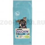 Корм Dog Chow Large Breed Puppy для щенков крупных пород до 2 лет с индейкой, 14 кг