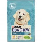 Корм Dog Chow Puppy Chicken для щенков до 1 года с курицей, 2.5 кг