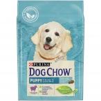 Корм Dog Chow Puppy Lamb для щенков до 1 года с ягненком, 2.5 кг