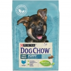 Корм Dog Chow Large Breed Puppy для щенков крупных пород до 2 лет с индейкой, 2.5 кг
