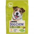 Корм Dog Chow Small Breed Adult для собак мелких пород с курицей, 2.5 кг