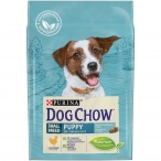 Корм Dog Chow Small Breed Puppy для щенков мелких пород до 1 года с курицей, 2.5 кг