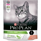 Корм PRO PLAN Sterilised OPTI RENAL (комплекс для поддержания здоровья почек) для стерилизованных кошек, с лососем, 400 г