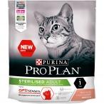 Корм Pro Plan Sterilised для стерилизованных кошек и поддержания органов чувств, с лососем, 400 г