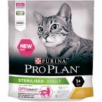 Корм Pro Plan Sterilised для стерилизованных кошек с чувствительным пищеварением, с курицей, 400 г