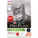 Корм PRO PLAN Sterilised OPTI SENSES (комплекс для поддержания органов чувств) для стерилизованных кошек, с лососем, 3 кг