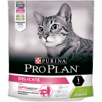 Корм PRO PLAN Delicate OPTI DIGEST (комплекс для поддержания здорового пищеварения) для кошек с чувствительным пищеварением, с ягненком, 400 г