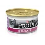 Корм Pro Plan Delicate для кошек с чувствительным пищеварением и привередливых к еде с индейкой, 85 г