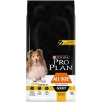 Корм PRO PLAN All Size OPTI WEIGHT (комплекс для здорового снижении веса) для собак всех пород с избыточным весом или стерилизованных, с курицей, 14 кг