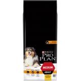 Корм Pro Plan Medium для собак средних пород 10-25 кг с курицей, 14 кг