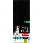 Корм Pro Plan Puppy Medium Sensitive Digestion для щенков средних пород с чувствительным пищеварением с ягненком, 12 кг
