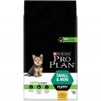 Корм Pro Plan Puppy Small and Mini для щенков мелких и карликовых пород с курицей, 7 кг