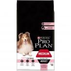 Корм Pro Plan Medium Sensitive Skin для собак средних пород 10-25 кг с чувствительной кожей с лососем, 7 кг