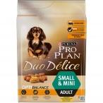 Корм PRO PLAN Duo Delice Small & Mini OPTI BALANCE (комплекс, учитывающий возраст и телосложение) для собак малых и миниатюрных пород, с курицей, 2.5 кг