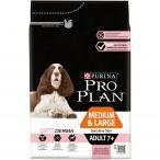Корм Pro Plan Medium and Large 7+ Sensitive Skin для собак старше 7 лет средних и крупных пород с чувствительной кожей с лососем, 3 кг