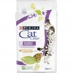 Корм Cat Chow Hairball Control для кошек, для вывода шерсти из желудка, с домашней птицей, 1.5 кг