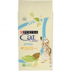 Корм Cat Chow Kitten Rich in poultry для котят с домашней птицей, 15 кг