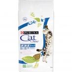 Корм Cat Chow 3 in 1 для кошек тройная защита 3 в 1 (МКБ, вывод шерсти, защита зубов), с домашней птицей и индейкой, 15 кг