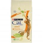 Корм Cat Chow Adult для взрослых кошек, с домашней птицей, 7 кг