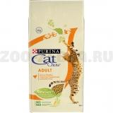 Корм Cat Chow Adult Rich in poultry для взрослых кошек с домашней птицей, 15 кг