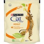Корм Cat Chow Adult для взрослых кошек, с домашней птицей, 400 г