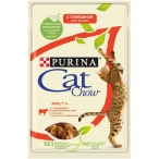 Корм Cat ChowAdult (в желе) для кошек, сговядиной и баклажанами, 85 г